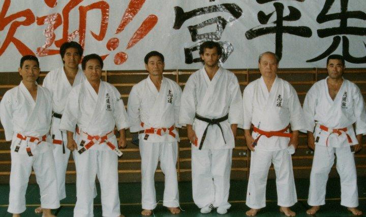 Con Maeshiro, Chinen, Nakamura, Nakamoto, Miyahira, K. Shihan, Higa senseis, 1995
