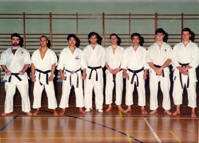 Con Kanazawa sensei y Murakami sensei, 1993