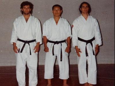 Con Shirai Sensei, L'Eliana, 1994