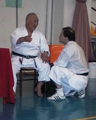 Con Kase sensei Andorra, 2003